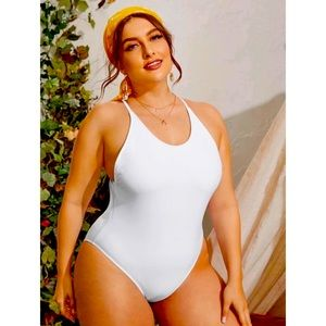 SHEIN White One Piece SwimSuit / Bathing Suit